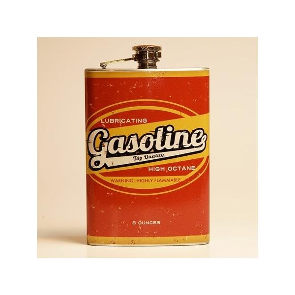 Flasque alcool gazoline.