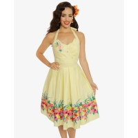 Robe pin-up tropicale Lindy Bop.