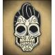 Patch crâne mexicain rockabilly Rusty pistons.