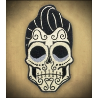 Patch crâne mexicain rockabilly Rusty pistons.