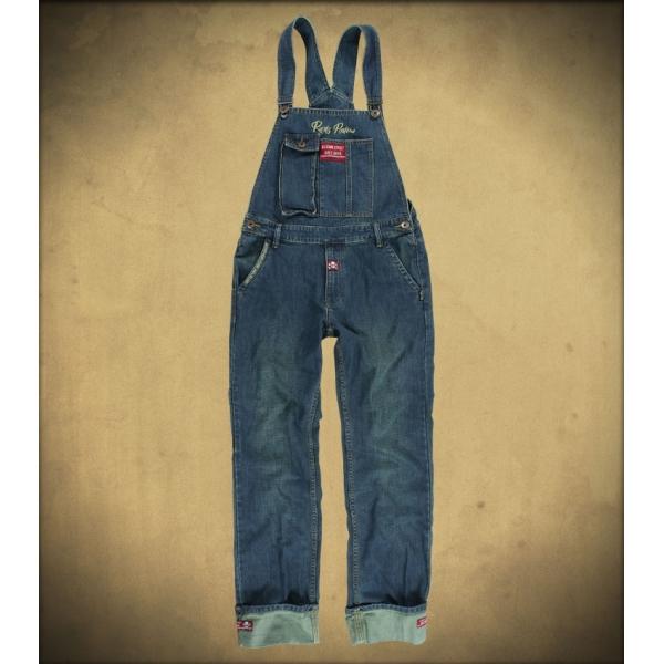 Salopette homme kustom en jeans Rusty pistons.