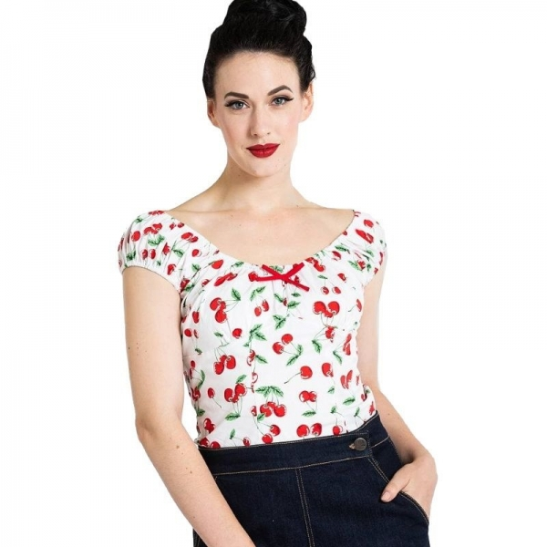Top pin-up cerises rockabilly.
