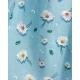 robe bleue vintage à fleurs