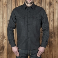 Surchemise en laine  marron Pike Brothers 1943 CPO shirt.