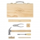 boite à outils vintage en bois