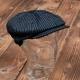 Casquette Pike Brothers rétro noire rayée