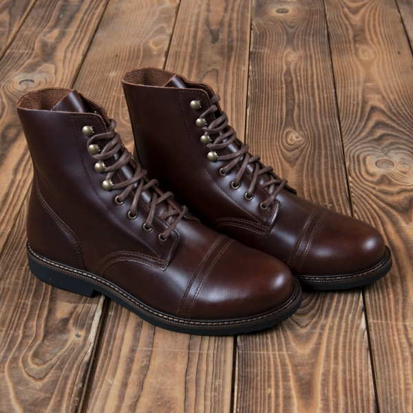 Chaussures rétro en cuir Pike Brothers 1966 low quarters