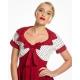robe lindy bop à pois rouge et blanc