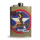 Flasque à alcool vintage Bettie Page US Army.