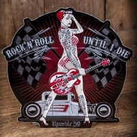 Autocollant pin-up, hot-rod et rock'n'roll Rumble 59.