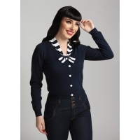 Cardigan pin-up rétro Collectif style marin.