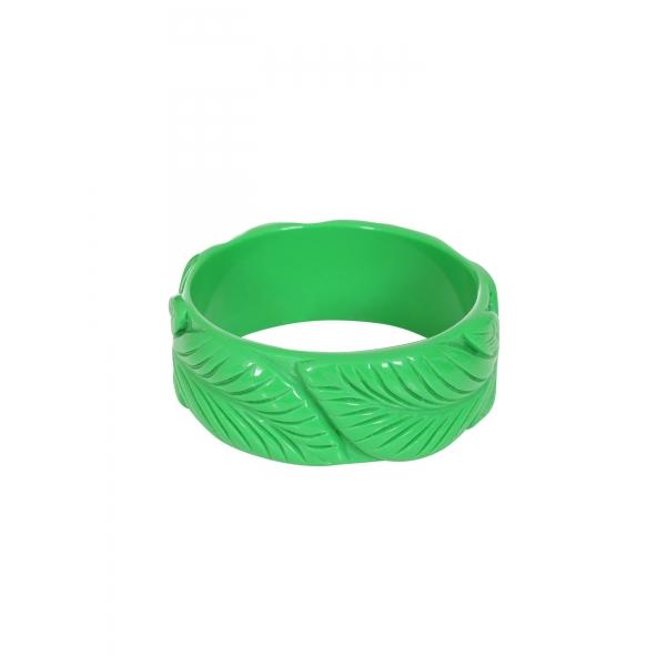 Bracelet pin-up vintage en bakélite vert