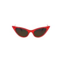 Lunettes de soleil pin-up cat eye rouge.