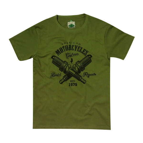 T-shirt kustom kaki