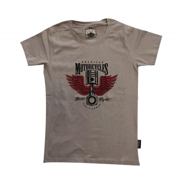 T-shirt femme moto kustom kulture