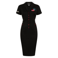 Robe pin-up hirondelles rockabilly Collectif clothing.