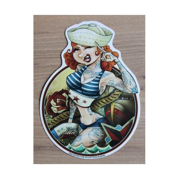 Sticker Sailor Girl.