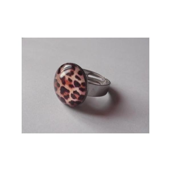 bague pin-up léopard rockabilly