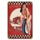 Plaque métal hot-rod Bettie Page