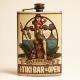 Flasque à whisky tiki bar