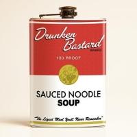 Flasque à alcool Drunken Bastard, style soupe américaine.