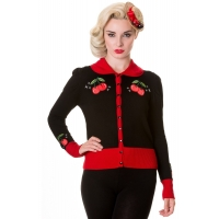 Gilet pin-up cerises.