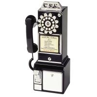 Téléphone rétro diner américain.