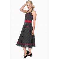 robe rockabilly noire à pois