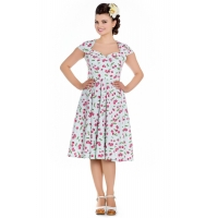 Robe pin-up cerises rockabilly.